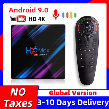 H96 MAX Smart TV Box Android 9 9.0 4k Android TVBox RK3318 4GB RAM 64GB ROM Set top Box H96MAX 2GB 16GB Google PlayStore Youtube