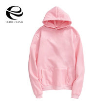 2019 Plus Size 4XL Autumn Women Sweatshirt Kpop Solid Hoodies Warm Fleece Harajuku Hooded Black Sweatshirts Pullover Warm Tops(China)