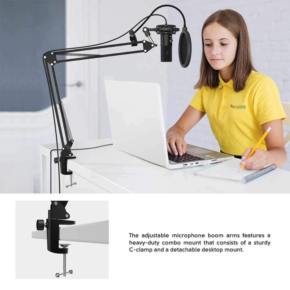 Kit de Microphone d'ordinateur USB à condensateur