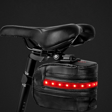 Bicycle bag tail with light luminous storage equipment riding seat rear bicycle saddle accessories