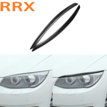 For BMW E92 E93 3 Series Coupe E92 M3 Coupe 2006-2012 Carbon Fiber Eyebrow Eyelid Car Headlight Eyebrows Stickers Trim Cover электромобили hebei bmw 2 series coupe