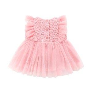 Платья для новорожденных девочек, хлопковые кружевные платья для девочек на свадьбу, день рождения, 1 год, летние белые платья