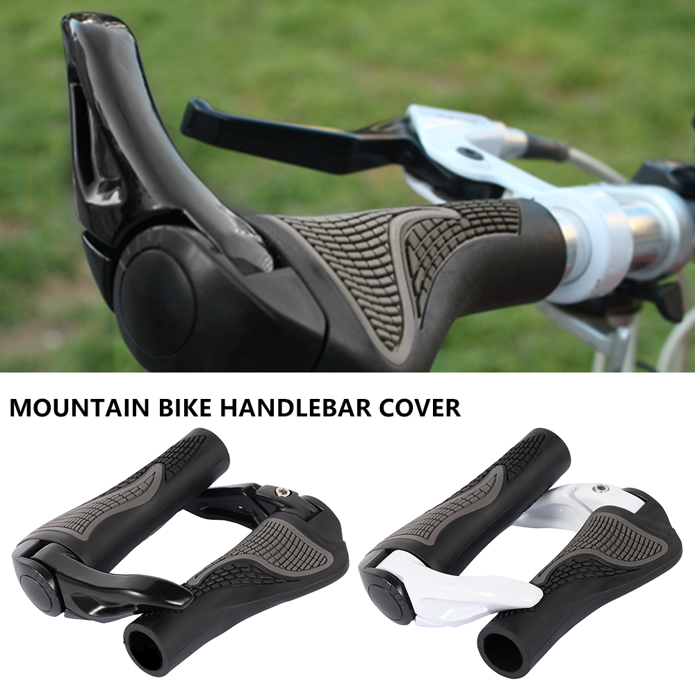 2PCS MTB <font><b>Rubber</b></font> <font><b>Bike</b></font> <font><b>Handlebar</b></font> <font><b>Grips</b></font> Cover Mountain Bicycle Handles Anti-skid Bicycle <font><b>Bike</b></font> Bar <font><b>Grips</b></font> Fixed Bicycle Accessories image