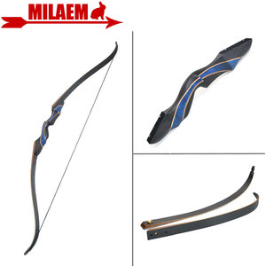 Image 1 - 1Set 56inch 20 55lbs Archery Recurve Bow Takedown American Hunting Bow Glassfiber Laminate Limbs RH Shooting Hunting Accessories
