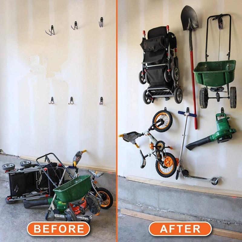 Storage Hook Steel Garage Storage Hooks Utility Double Heavy Duty For Power Tools Ladders Bikes Bulk Items Wall Hooks New Garag Hooks Rails Aliexpress