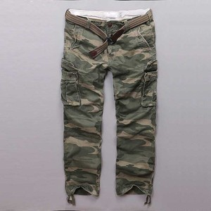 Cotton Cargo Pants Men Casual Military Army Style Camo Pants Straight Loose Baggy Tactical Trousers Joggers Pants Man Clothes(China)