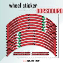 뜨거운 Sale17 인치 12 스트립 반사 스티커 휠 허브 방수 스티커 맞춤형 데칼 APRILIA DORSODURO 900 750