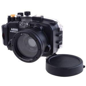 Image 5 - 40 m/130ft A6000 para Sony (16 50) carcasa de cámara subacuática + lente gran angular de puerto de cúpula + 67mm Filtro de buceo rojo