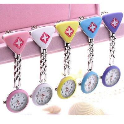 Clip nurse brooch watch pocket quartz waterproof pt 99 S0237 sent from Italy