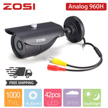 ZOSI 960H BNC Cable Analog Bullet CCTV Camera IR Camera Nightvision Waterproof IP66 Indoor Outdoor CCTV Video Camera for DVR Kit(China)