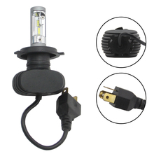 цена на SHUOKE S1 Led H4 LED Car Headlight 50W 8000LM Automobile Bulb Chips CSP 6000K 2PCS Auto Fog Lamp Free Shipping