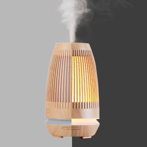 Ultrasonic Wooden Incense Burner Grain Oil Burner Vaporizer Aromatherapy Lamp Humidifier Gift Brule Parfum Incent Burner AC50XX