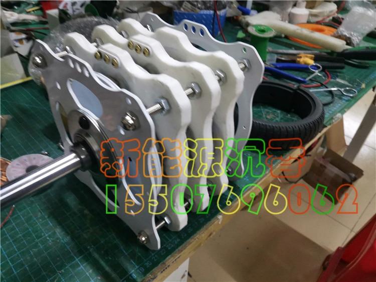 1000W+1000W+1000W High-power Three-layer Disc Type Permanent Magnet Ironless Generator DIY Low Speed Wind Hydraulic