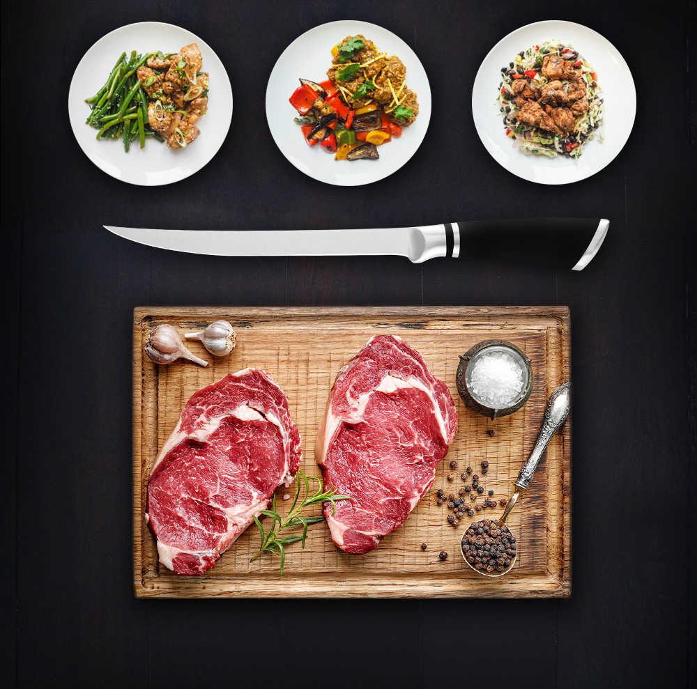 """Qing 6 """"7"""" 8 """"Cal trybowanie noże wysokiej Quliaty nóż ze stali nierdzewnej kości łososia Sushi drobne surowe ryby fileting nóż narzędzia kuchenne"""