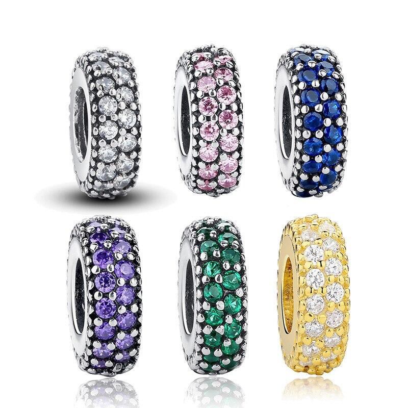 Authentique 100% 925 argent Sterling Inspiration entretoise perles breloque ajustement Original WST bracelet à breloques bijoux