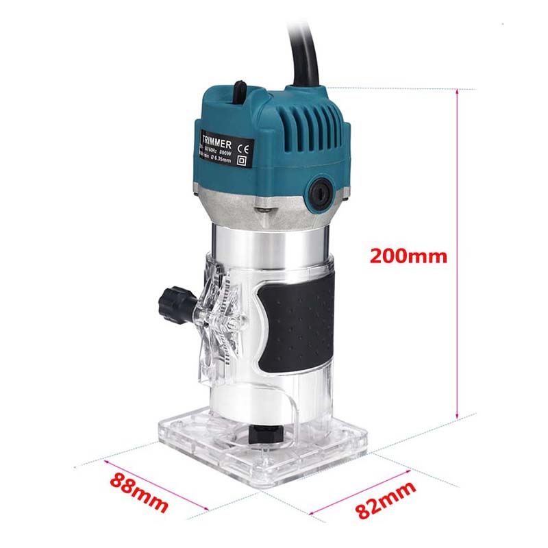 EU UK US Plug 800W Woodworking Electric Trimmer Wood Milling Engraving Slotting Trimming Machine Carving Machine Router Wood
