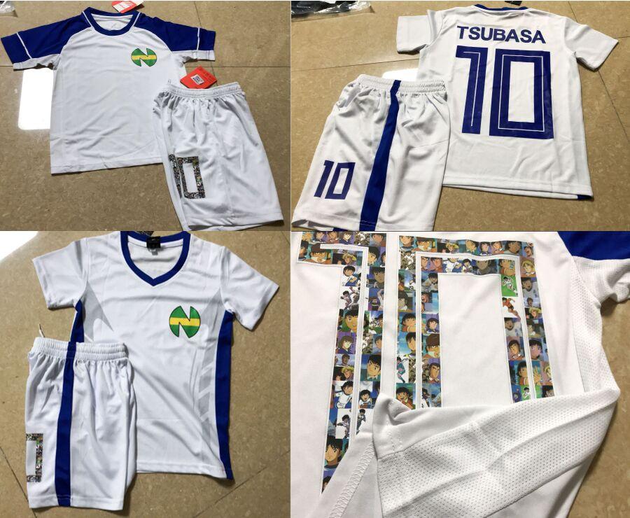 Asia Kids / Men Size, Football Camiseta Equipe De France Kits ,Oliver Atom Maillot De Foot Enfant Gift Captain Tsubasa Jersey
