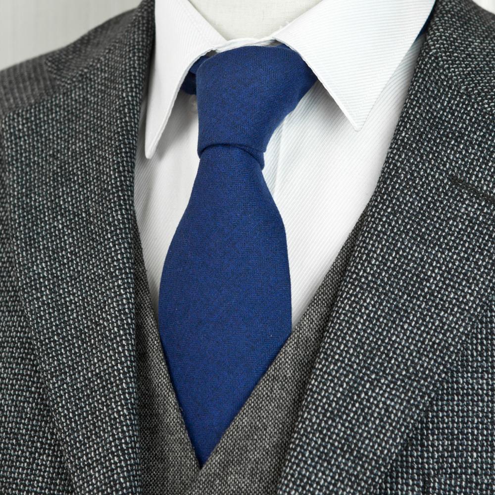Mens Ties Neckties Solid Gray Grey Red Blue Orange Wool Tie Handmade Exquisite Suit Gift For Men Free Shipping New Arrival