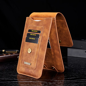 Image 3 - PU Leather Phone Bag Case for Iphone X 11 Pro for Samsung S8 S9 S10 Note9 Card Slot Wallet Waist Belt Clip Holder Holster