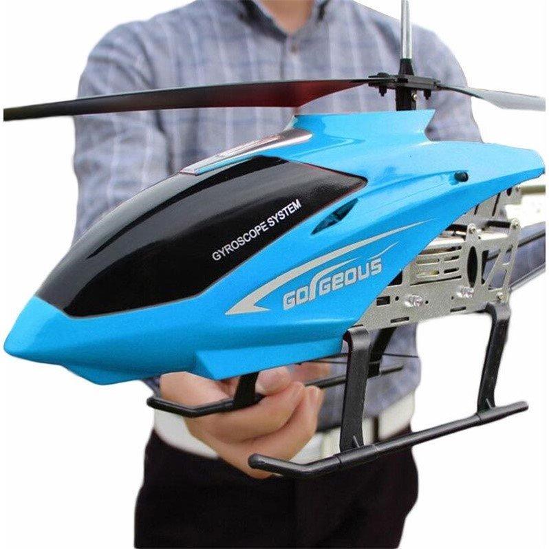 3,5ch 80 см супер большой вертолет с дистанционным управлением летательный аппарат с защитой от падения Радиоуправляемый вертолет зарядка игрушка Дрон модель БПЛА уличная Летающая модель 3