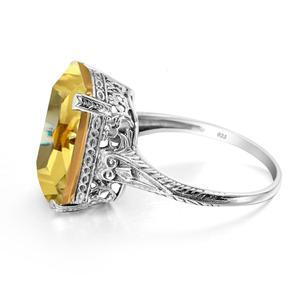 Новое модное кольцо из стерлингового серебра 925 пробы ручной работы богемное желтое кольцо цитрин для женщин Изящные Ювелирные изделия Акс...