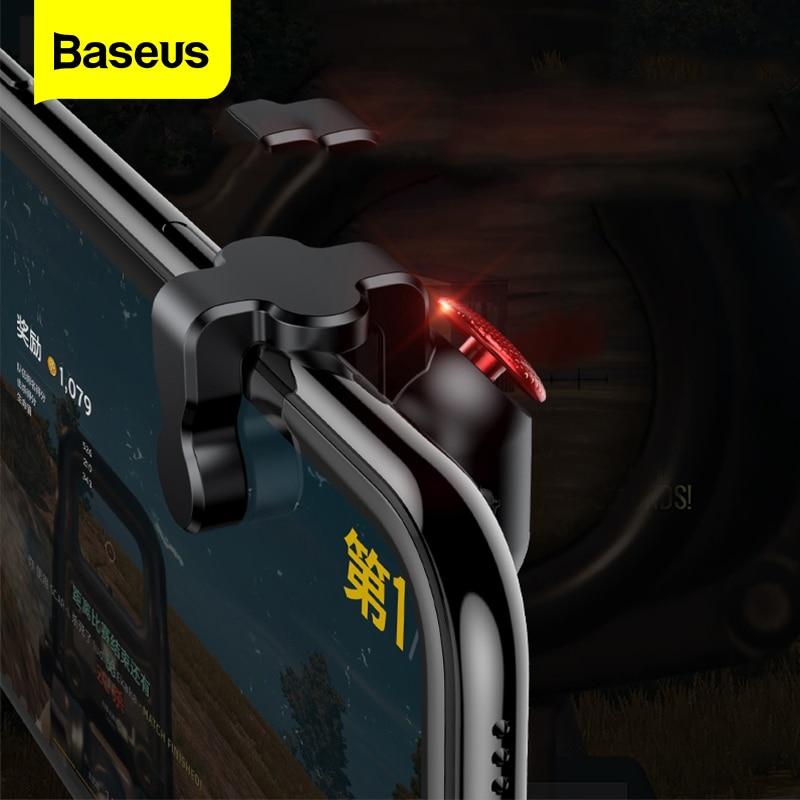 Baseus Gamepad Joystick For PUBG L1 R1 Key L1R1 Shooter Controller Joypad Trigger Fire Button Aim For PUBG Mobile Phone Game Pad(China)
