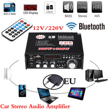 Car Bluetooth Stereo Audio Amplifier Home HiFi Music SD USB