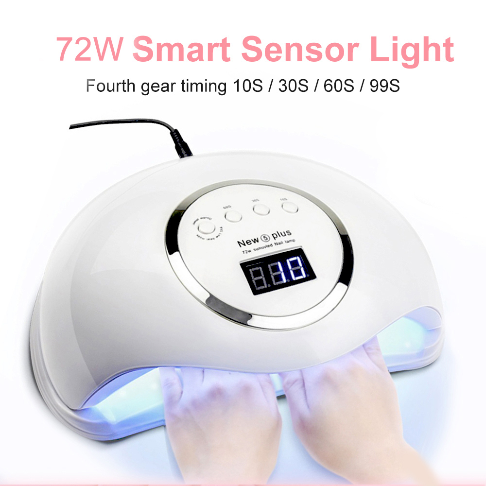 72W LED Nail Lamp Nail Dryer 36PCS LED UV Lamp For Curing All Gel Nail Polish With Motion Sensing Manicure Pedicure Salon Tool(China)