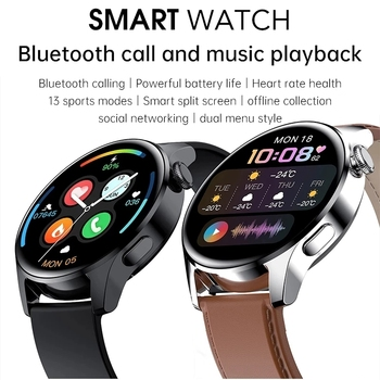2021 New For HUAWEI Smart Watch Men Waterproof Sport Fitness Tracker Weather Display Bluetooth Call Smartwatch For Android IOS 2