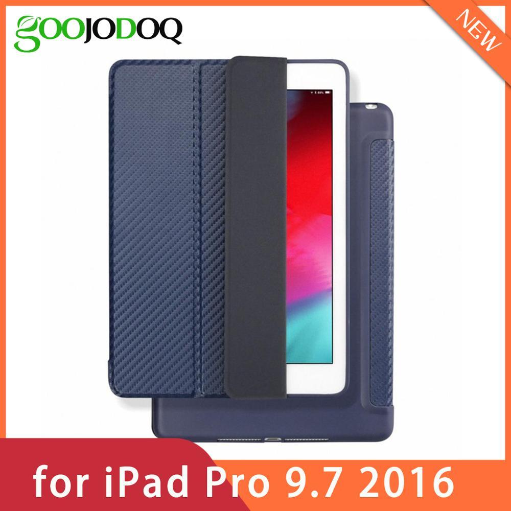 For IPad Pro 9.7 Case Silicone TPU Soft GOOJODOQ Smart Cover For Apple IPad Pro 9.7 Inch Case Funda 2016 A1673/A1674/A1675