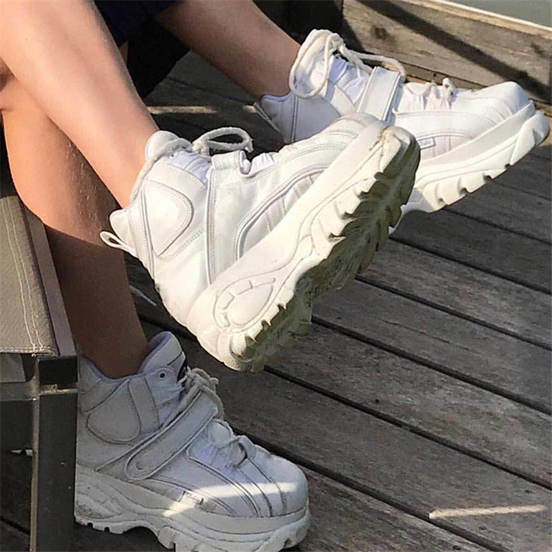 Stylesowner 2020 Brand Luxury Shoes Women Sneakers Genuine Leather Platform Sneakers Ladies Fashion New Leisure Women Dad Shoes