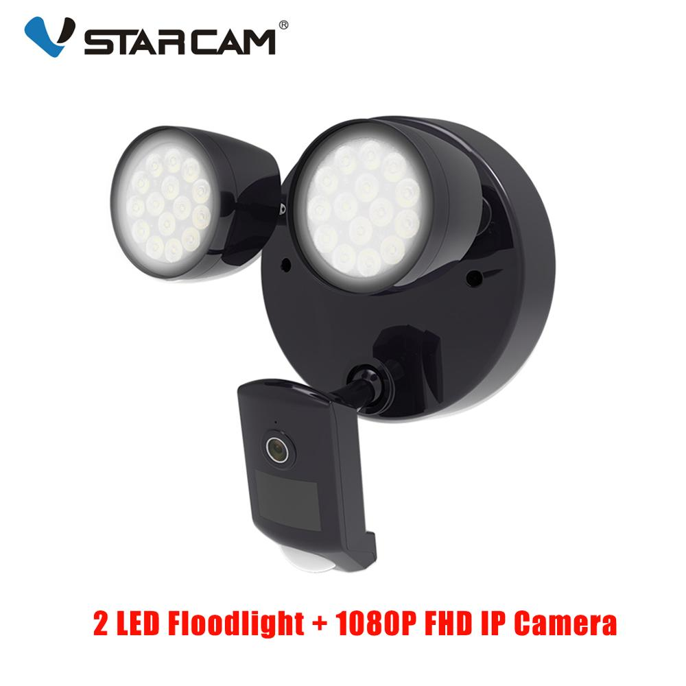 Vstarcam Outdoor HD 1080P LED Floodlight IP Camera Wifi Outdoor Waterproof Camera PIR Motion Detection Surveillance Security Cam-in Surveillance Cameras from Security & Protection