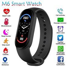 2021 nova banda m6 relógio inteligente pulseira monitor de pressão arterial fitness tela colorida relógio inteligente horas para xiaomi # g