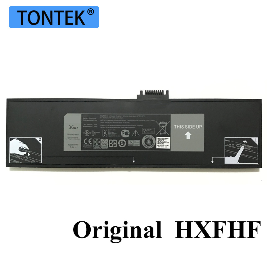 7,4 V 36WH подлинный HXFHF Аккумулятор для ноутбука Dell Venue 11 Pro (7130) 11 Pro (7139) 11 Pro 7310 VJF0X