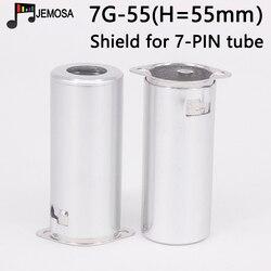 10 sztuk pełna rura aluminiowa gniazdo ekranowania pokrywa dla 5687 6N1 5755 12AX7 12AT7 12AU7 9-Pin elektroniczny rury tarcza darmowa wysyłka