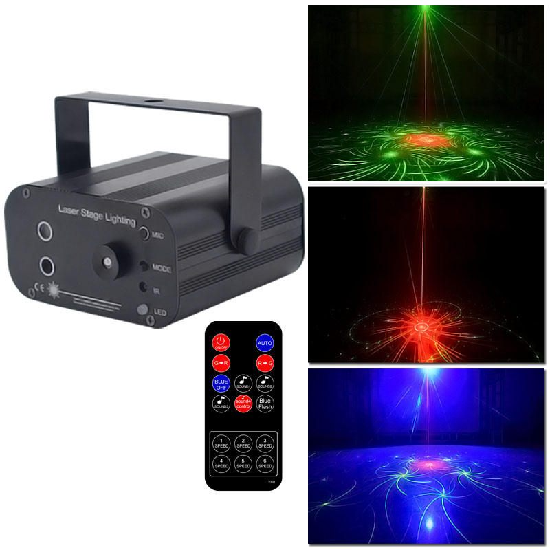 YSH Dj Light Laser Disco Lighting Effect Mini Projector Light Stobe Led Bar Party Lights Projector RGB Stage For Club Ball Part