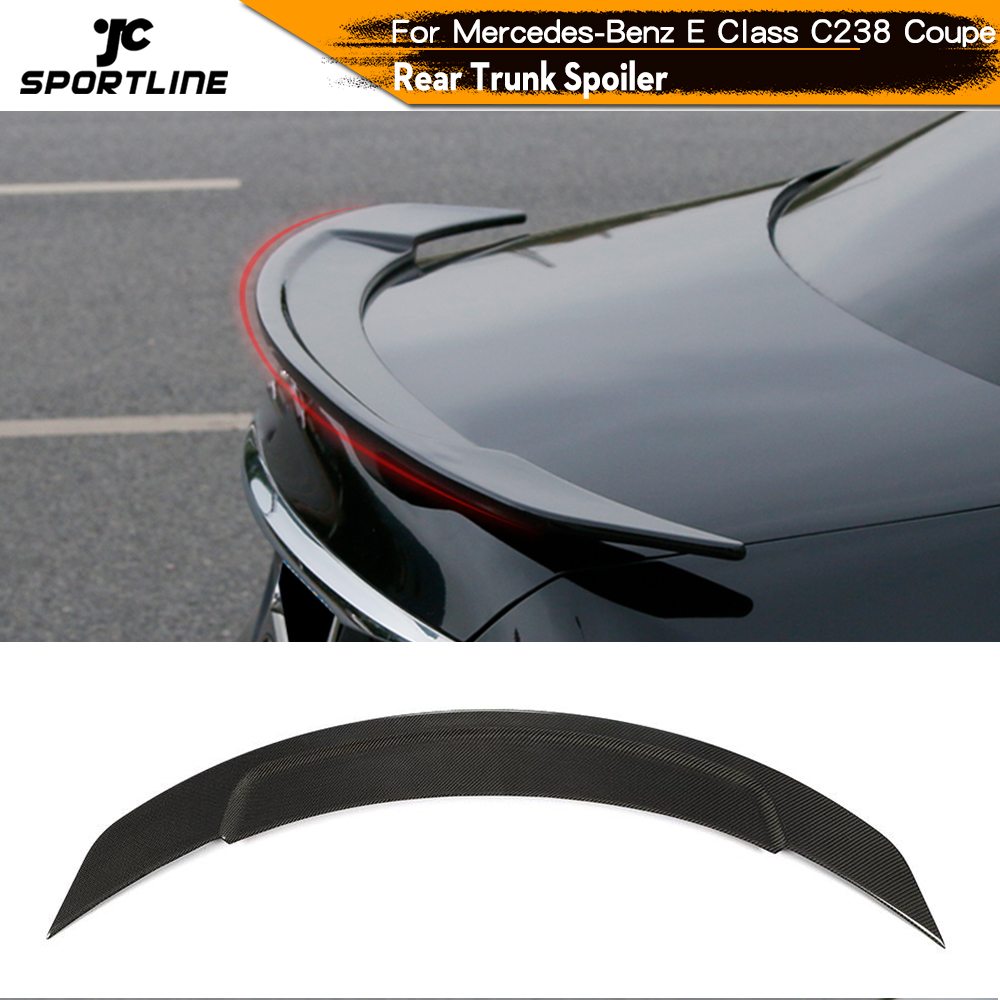Rear Trunk Spoiler Boot Lip Wing Spoiler For Mercedes-<font><b>Benz</b></font> E Class <font><b>C238</b></font> Coupe 2019 2020 image