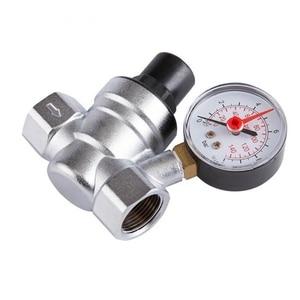 Image 4 - 1/2 Cal regulator ciśnienia wody z miernika ciśnienia utrzymanie zawór wody z kranu zawór redukcyjny DN15