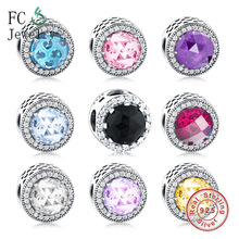 925 Sterling Silver Sparkling Charm Beads Fit Original Pandora Charms Bracelet 925 Silver DIY Jewelry Berloque ckk beads 925 sterling silver rainbow charm fits pandora charms silver 925 original bracelet diy jewelry kralen berloques