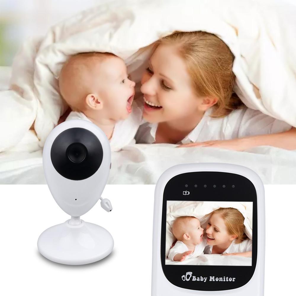 Беспроводной цветной видеоняни с 2,4 дюймовым ЖК-дисплеем 2 способа аудио разговора ночного видения наблюдения камеры безопасности няня