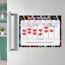Droog Veeg Magnetische Whiteboard Koelkast Sticker Wekelijkse Dagelijkse Planner Kalender Te Doen Lijst Kids Beloning Grafiek Dagelijkse Schema 40x30cm