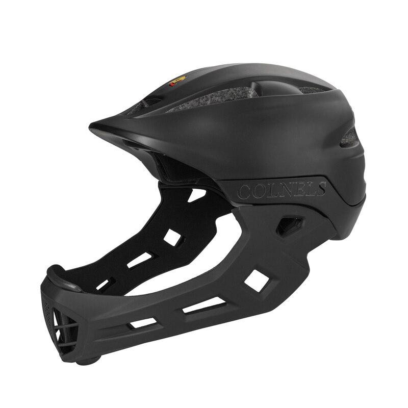 Colnels vélo casque de vélo PC et EPS dans le moule Matt enfants casque de vélo complet avec 10 évents d'air et verrouillage de la tête feu arrière