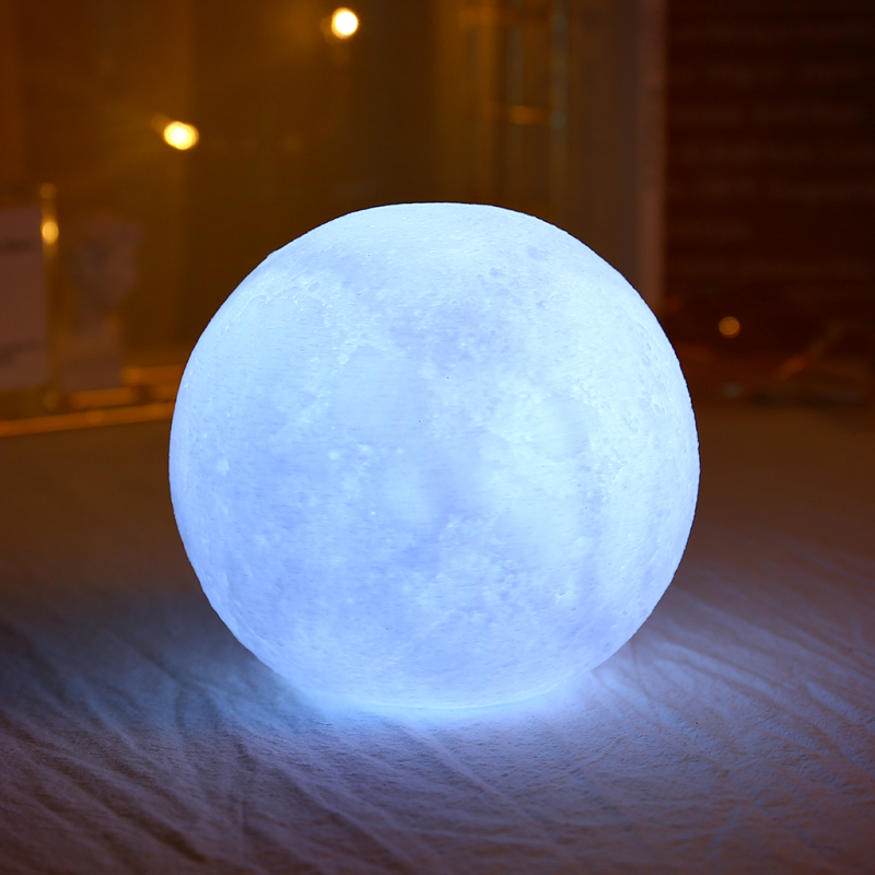 10cm Moon Light 3D Print Colorful Change Moon Globe Lamp Luna Moon Night Light Usb Touch Switch Home Bedroom Decor Dropshipping