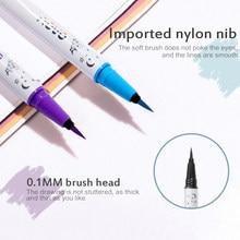 Colorido matte portátil líquido de secagem rápida lápis delineador beleza maquiagem ferramentas de longa duração sweatproof eye liner caneta cosmetictslm2