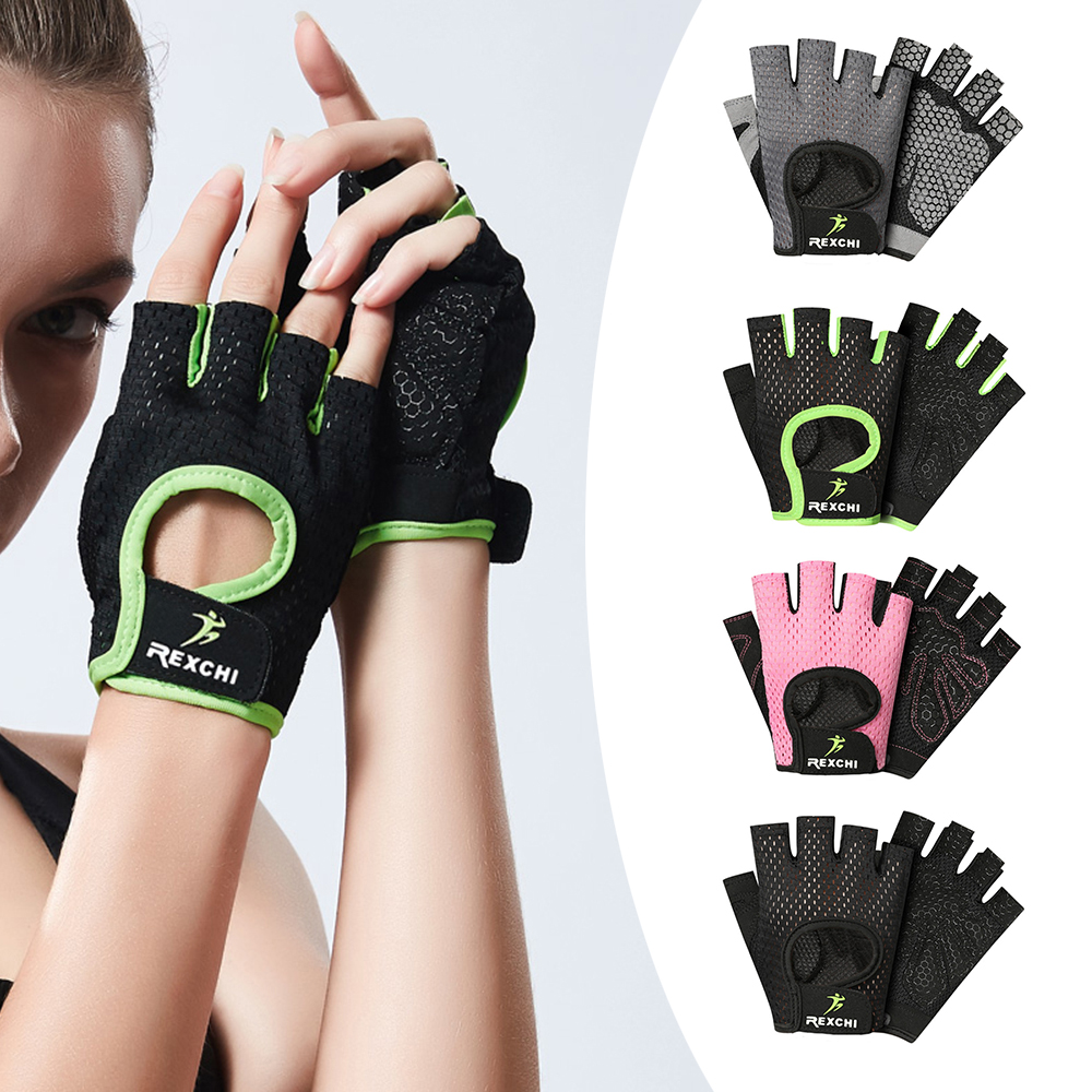 Gym Gloves Breathable Half Finger Gloves Anti-slip Riding Mitten Bike Gloves for Men Women Fitness Cycling Gloves