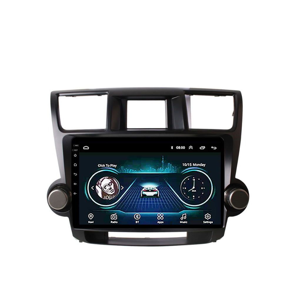 10.1 inch 2.5D Android 8.1 Navigation GPS Multimedia Player for <font><b>Toyota</b></font> <font><b>Highlander</b></font> 2007 2008 2009 <font><b>2010</b></font> 2011 2012 <font><b>2013</b></font> image
