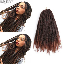 18inch Marley Braids Synthetic Afro Kinky Curly Crochet Braiding Hair Extensions Yaki Ombre Marley Twist Hair For Black Women