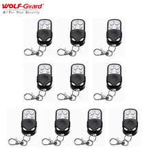 10Pcs Wolf-Guard 433MHz Wireless 4 Keys Remote Control Keyfobs for GSM Wifi Home Alarm Sceurity Burglar System Black&Silver