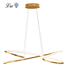 LED Chrome Gold Pendant Lights Living Room Bedroom Decor Hanging Lamp Restaurant Indoor Lighting Pendant Lamps kitchen Fixtures