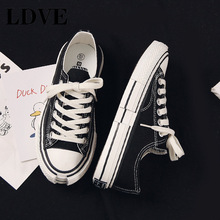 Hot Sale Newest Style Women Canvas Shoes Yellow Flat High Top Casual Sneakers Lace Up Casual Shoes for Girl Vulcanize Shoes недорого